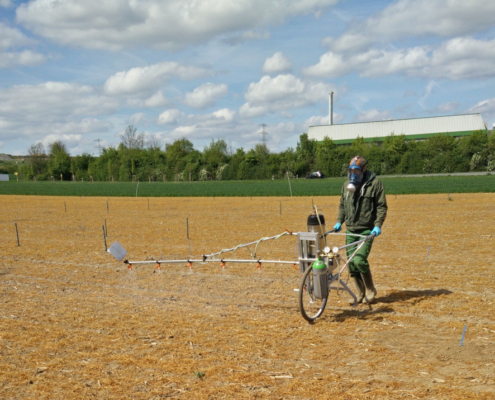 An adapted test design for earthworm field studies was developed combining a NOEC and ECx approach and a pilot field study was performed.